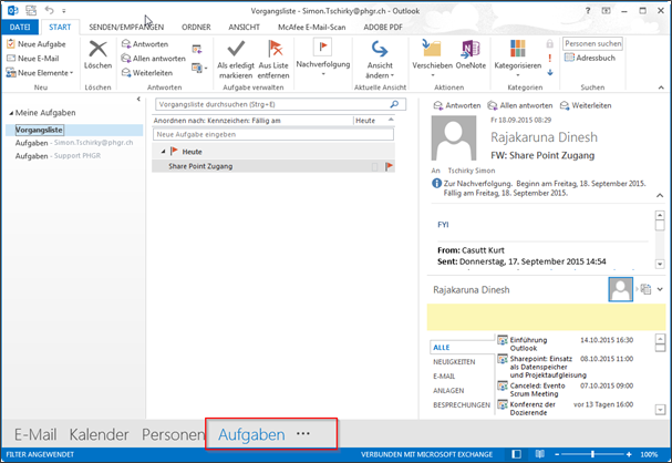 Outlook – Aufgaben | IT-Tutorials